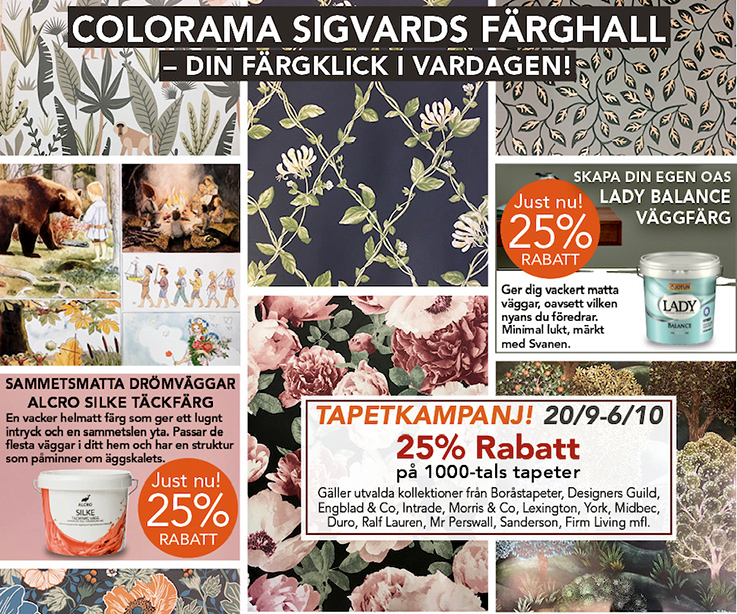 Colorama Sigvards Färghall i Ljungby